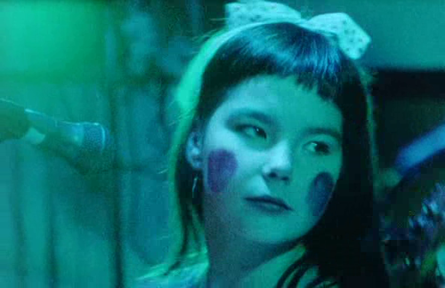 17 year old Björk performing in the band Tappi Tíkarrass, 1982