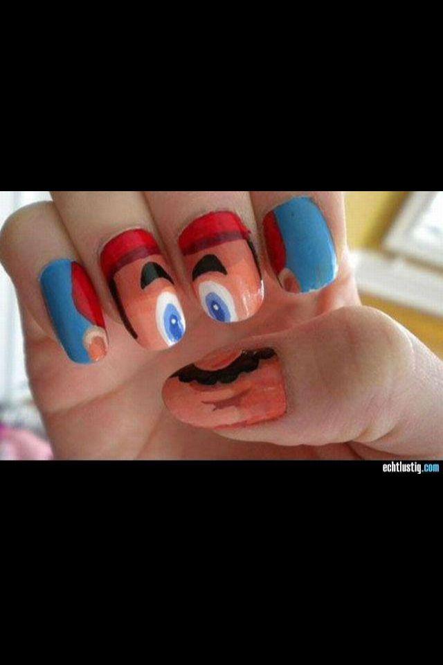 Super Mario Nägel