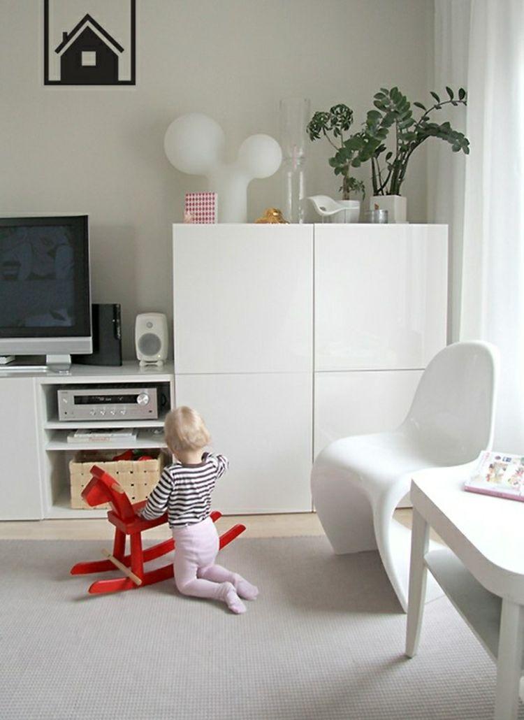 Ikea Besta Einheiten in die Inneneinrichtung kreativ integrieren - ikea wohnzimmer wei