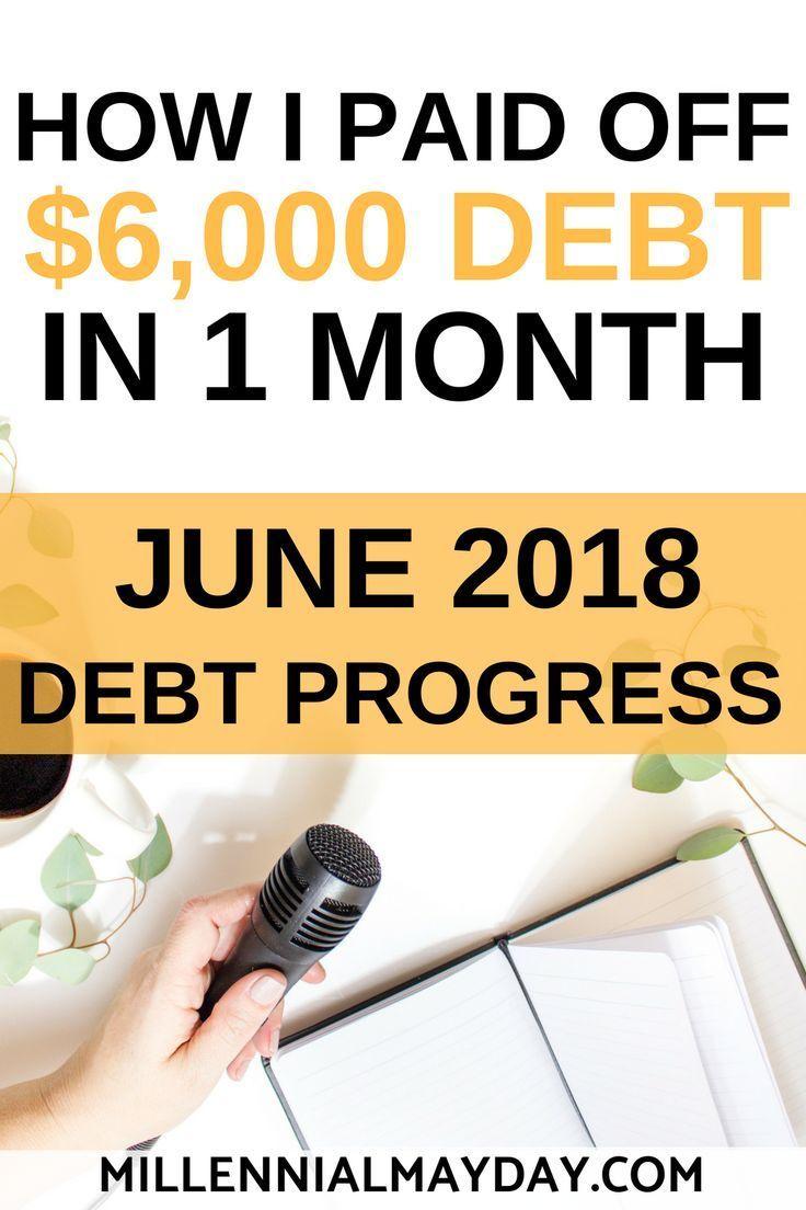June 2018 debt progress 6000 paid millennial mayday