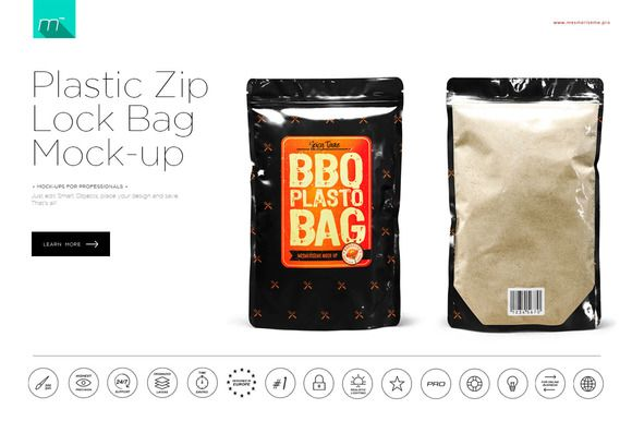 Download Zip Lock Plastic Bag Mock Up Plastic Bag Bags Packaging Mockup