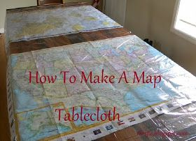 redeemed: map tablecloth