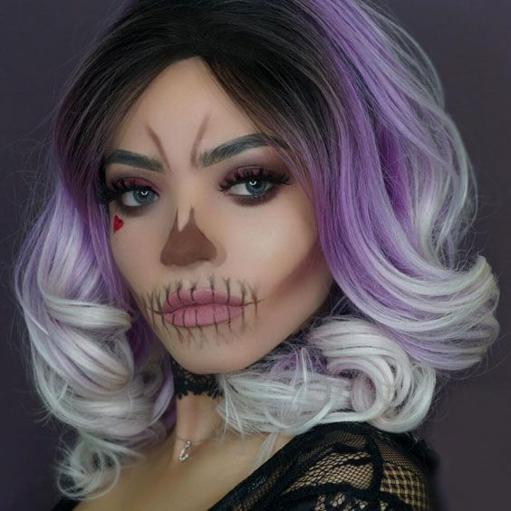 18 Easy Halloween Makeup Ideas to Have Fun with Friends Easy - face makeup ideas for halloween