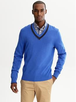 Pair A Collared Shirt Under Your V Neck Sweater Mens Business