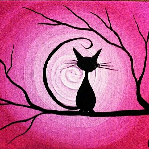Cheshire cat painting canvas