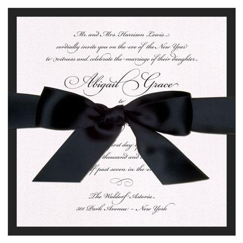 Grace Ribbon Wedding Invitation The Green Kangaroo Black And White Wedding Invitations White Wedding Invitations Wedding Invitation Ribbon