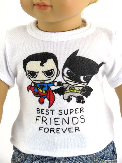 Best Super Friends Shirt 18 in Boy Doll Clothes Fits American Girl