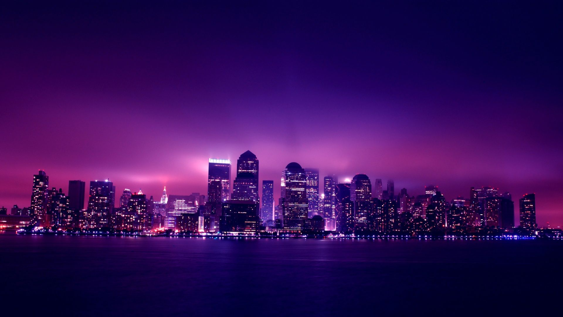 Wallpaper Collection 37 Best Free Hd Desktop Backgrounds 1920x1080 Background To Download In 2020 Night City Landscape Wallpaper Purple City