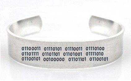 Customisable Bracelet Binary By Ragequitgifts