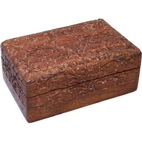 Small Carved Box That Is Kept On The Nightstand Perfect For Housing Little Odds Ends Decorative Boxes Wood Boxes Wood
