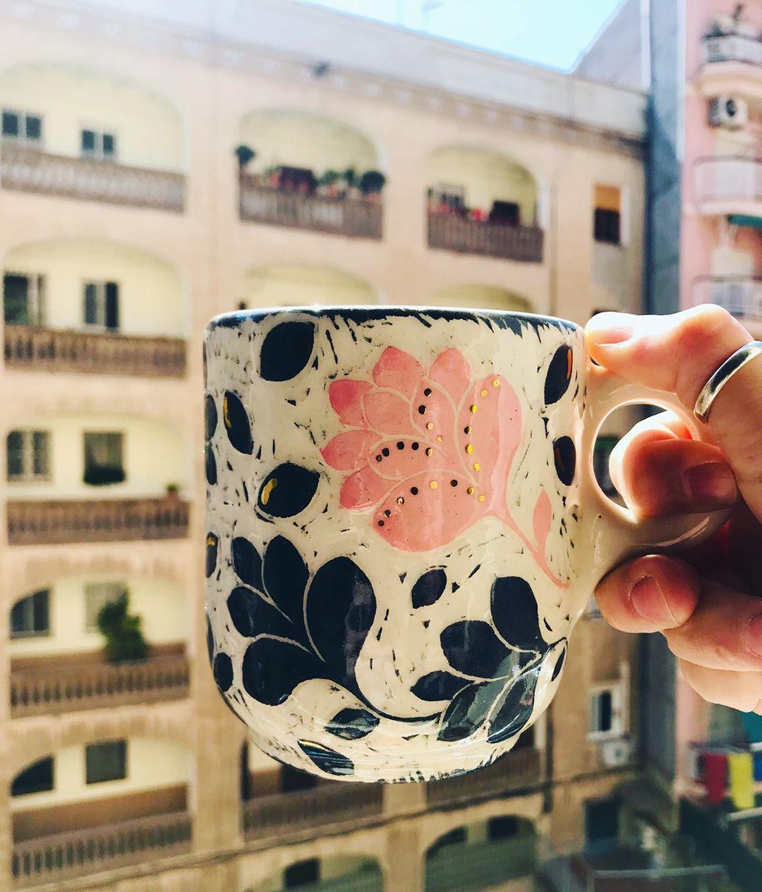 #esgrafiado #oro #gold #ceramicart #mug #taza #ceramica #pottery #tazasceramica