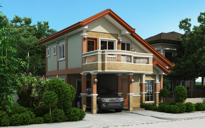 Two storey house plan with balcony amazing architecture for Small house design with terrace