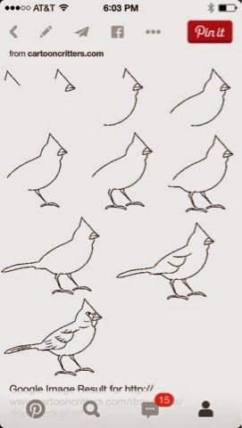 The Lost Sock : How to Draw a Cardinal | drawing | Pinterest ...