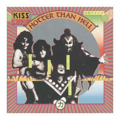 """L'album dei #Kiss intitolato """"Hotter Than Hell"""" su vinile."""