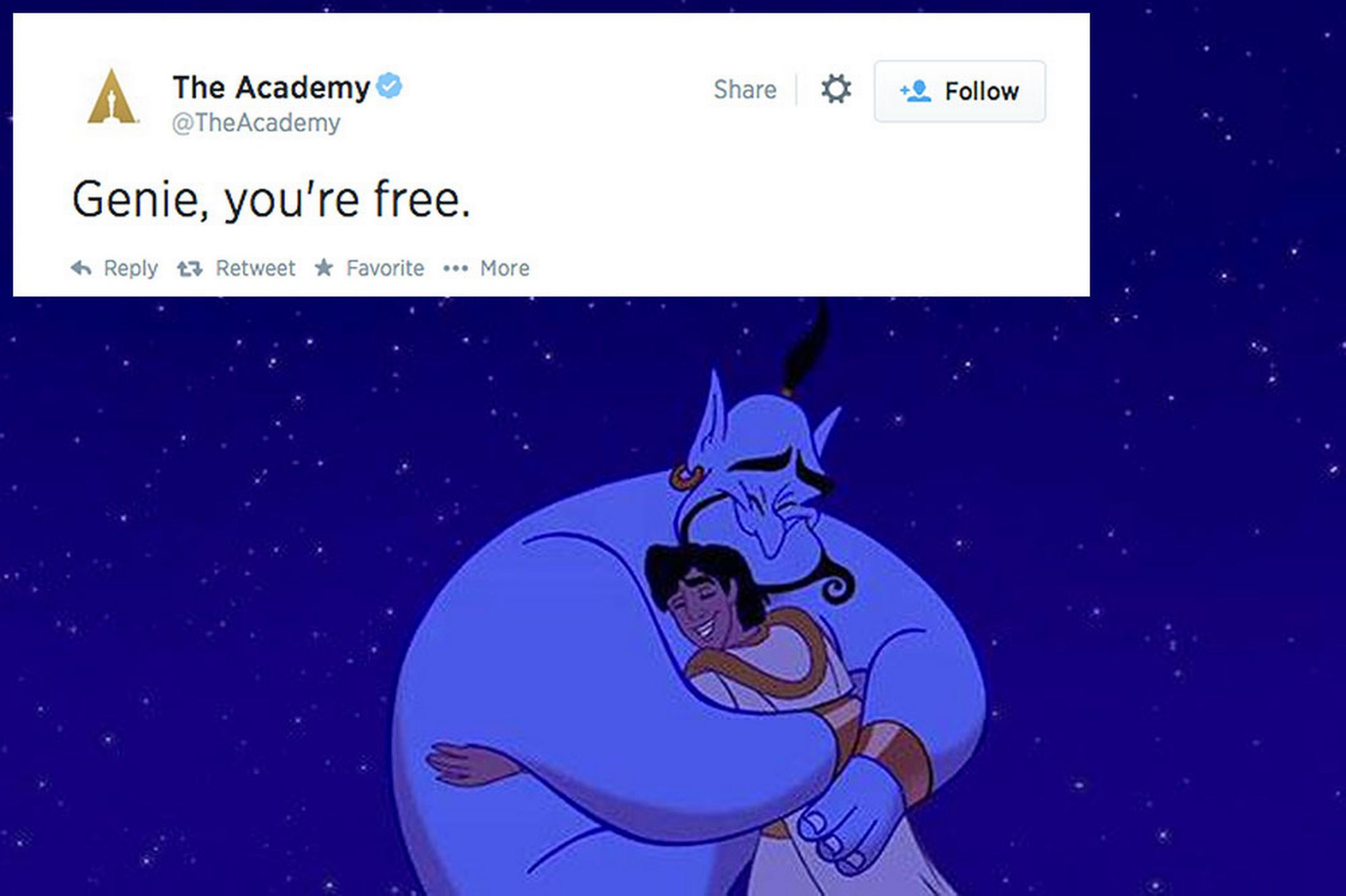 Robin Williams Dead The Academy Issue Heartbreaking Tribute Genie You Re Free Robin Williams Death Robin Williams Genie Robin Williams