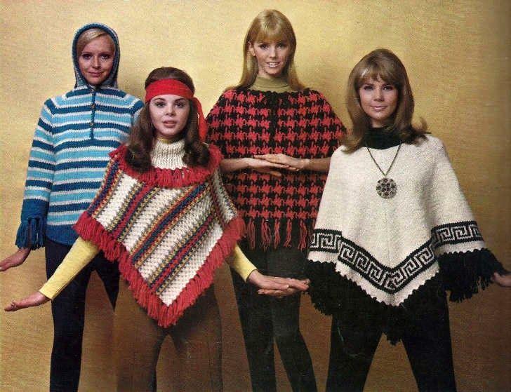 70s poncho fashion