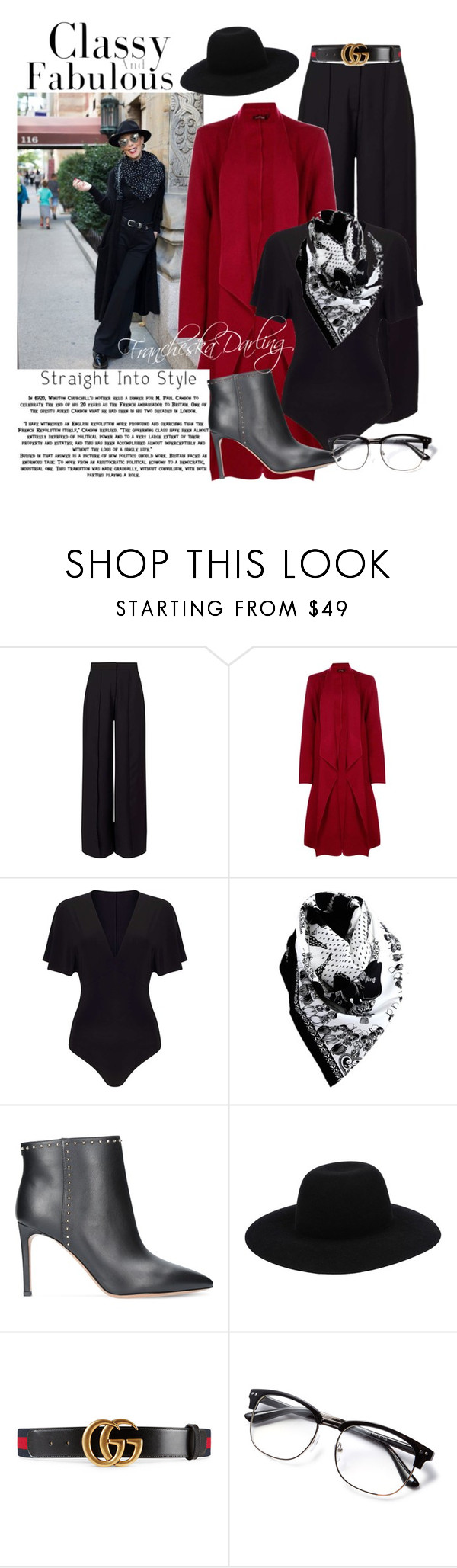 """""""Who Did That?"""" by francheskadarling ❤ liked on Polyvore featuring Miss Selfridge, Boohoo, Valentino, Off-White and Gucci"""