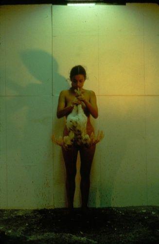 Ana Mendieta works in 2020   Performance artist, Ana ...  Ana Mendieta Chicken Piece