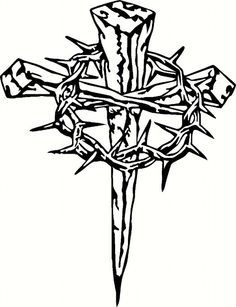 Three Nails Cross With Crown Of Thorns Google Search Home