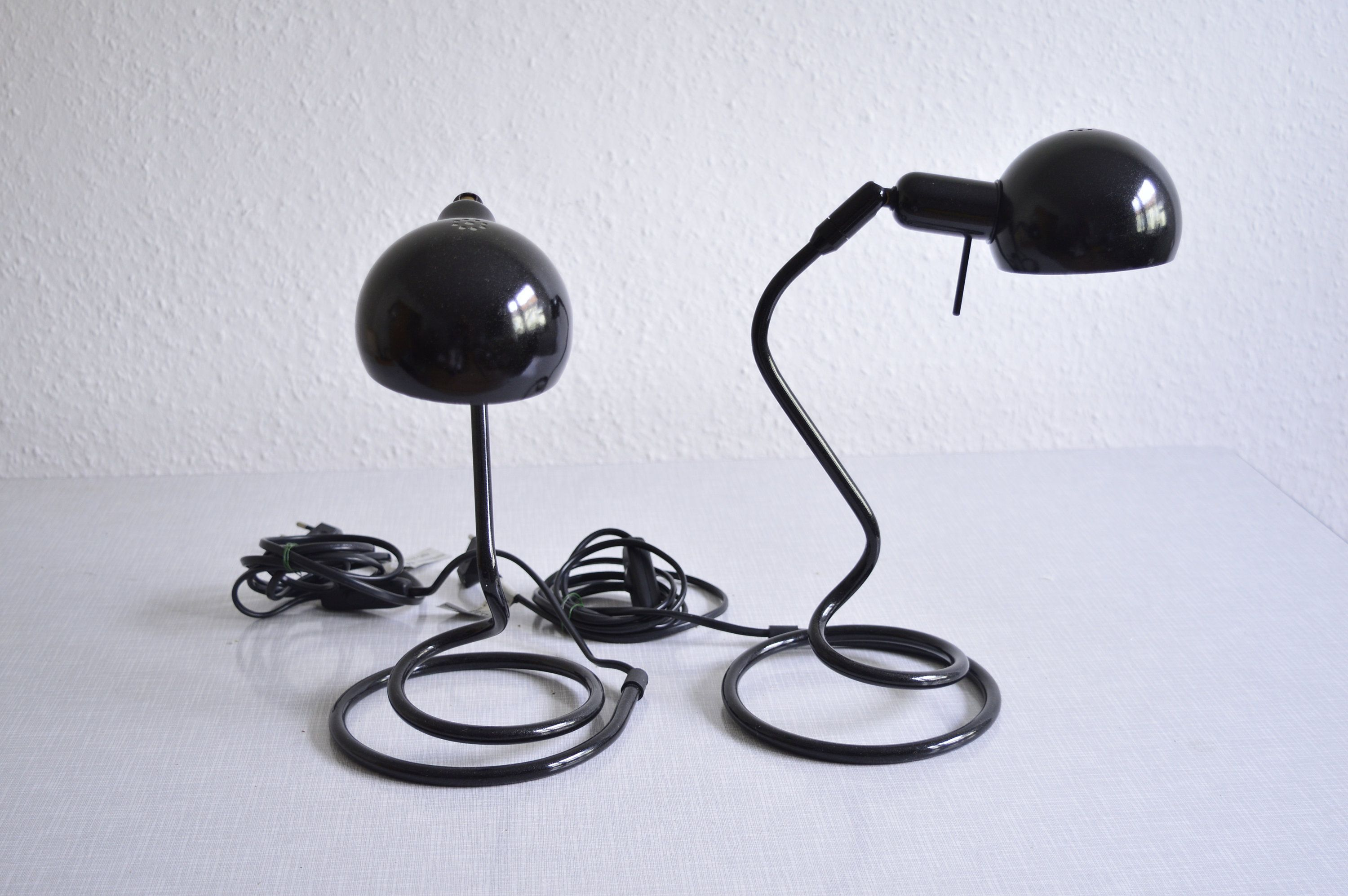 Set Of Two Spiral Shaped Table Lamps From Hkf From The 80s Lampe Tischlampen Schöne Lampen