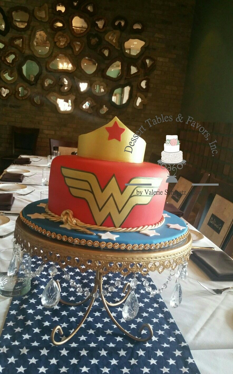 Wonder Woman Cake By Dessert Tables And Favors Inc Birthday