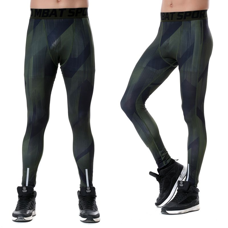 2017 New Running Pants Men Basketball High Elastic Gym Fitness Training Pants Fast Dry Compression Tights L Mens Running Pants Running Pants Bodybuilding Pants