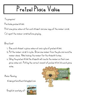 Here's an activity for building numbers to 250 with a place value mat and pretzel sticks.