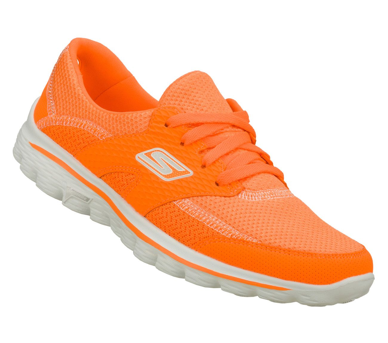 Pair of orange Skechers shoes - Women's