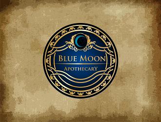 Blue Moon Apothecary Logo Design Concepts 8 Blue Moon Logo Design Moon Logo