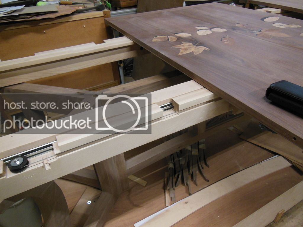 Dining Table Extension Slides By Davesj Lumberjocks Com Woodworking Community Extension Dining Table