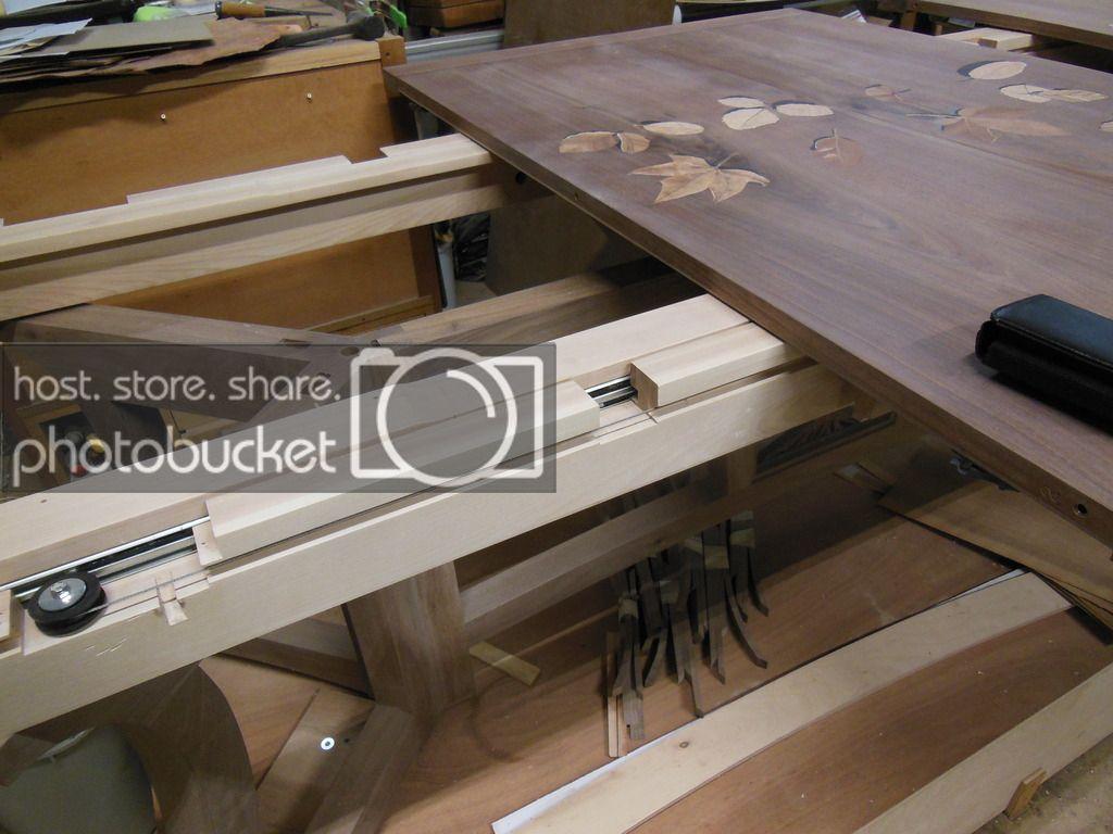 Dining Table Extension Slides By Davesj Lumberjocks Com