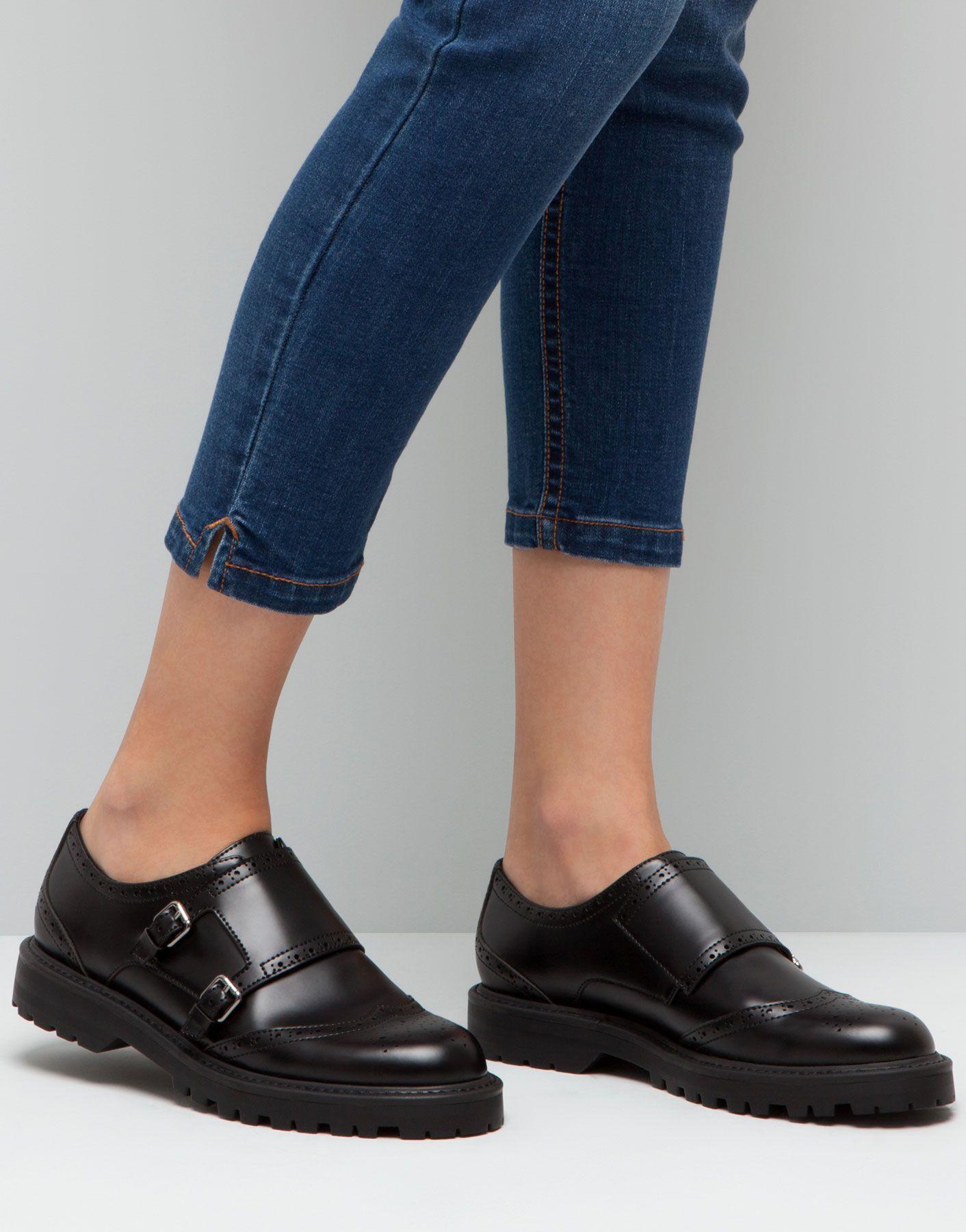 Mujer Shoes Zapatos Monk Pull amp;bear España Zapato qxTEwZPgg