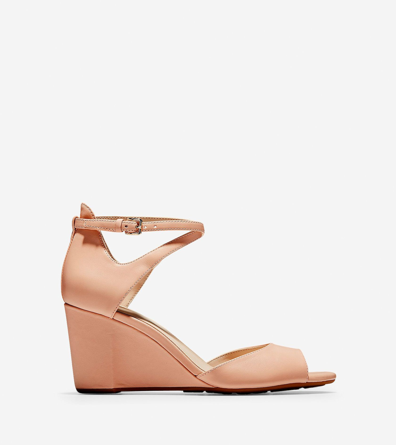 193f4373e Women's Sadie Open Toe Wedge Sandals 75MM in Mahogany Rose | Cole Haan