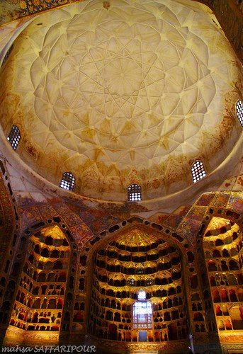 Sheikh Safi-al-Din Mausoleum, Ardebil   One of the main sights in the town of Ardabil in north-west Iran is the shrine of Shaykh Safi al-Din Ardabili, who died in 1334. The Shaykh was a Sufi leader, who trained his followers in Islamic mystic practices. After his death, his followers remained loyal to his family, who became increasingly powerful.