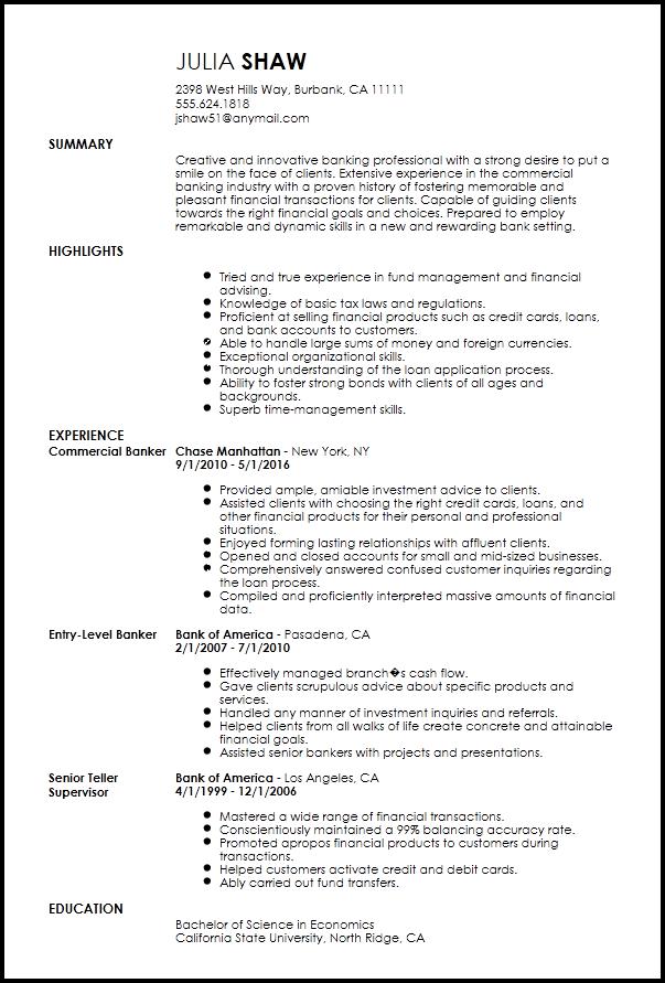 Free Creative Banking Resume Template Resumenow Resume Template Resume How To Memorize Things