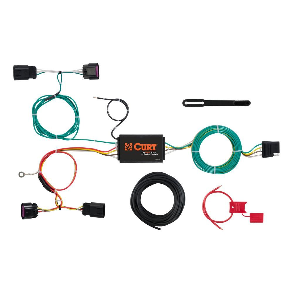 Curt Custom Wiring Harness 4 Way Flat Output 56288 Custom