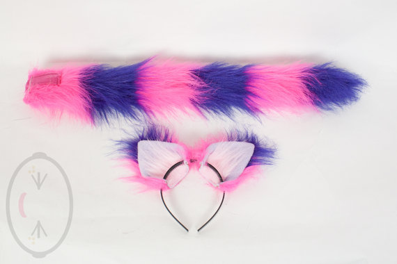 FOX Orecchie /& Coda Set Long Tail Unique costume volpe