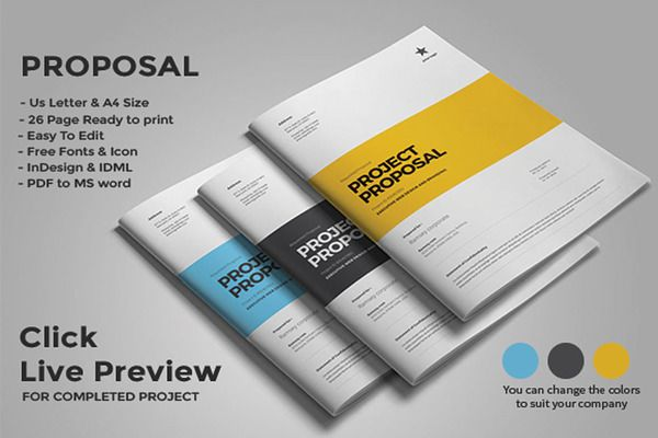 Proposal Template By Fahmie On Creativemarket Proposaltemplate