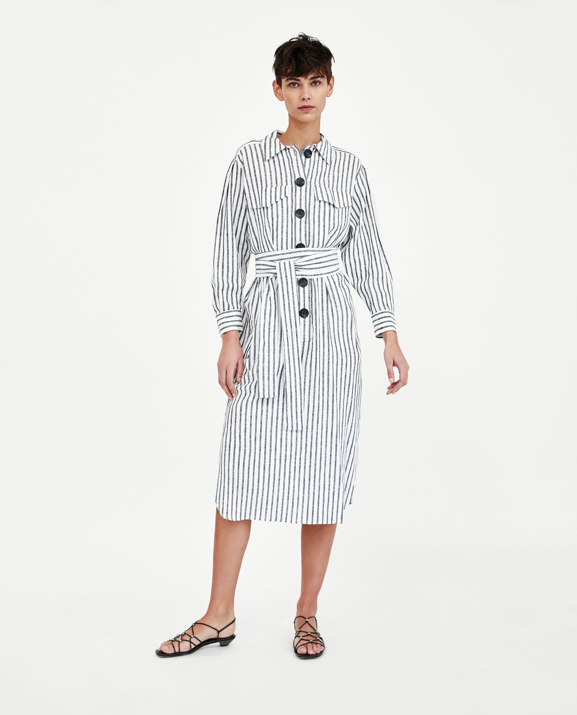 4ff14f55846 Striped Linen Dress    69.90 USD    Zara    Collared shirt dress with