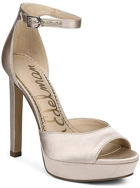 8bbc0f91aa4334 Sam Edelman Women s Wallace Satin Platform High Heel Sandals ...