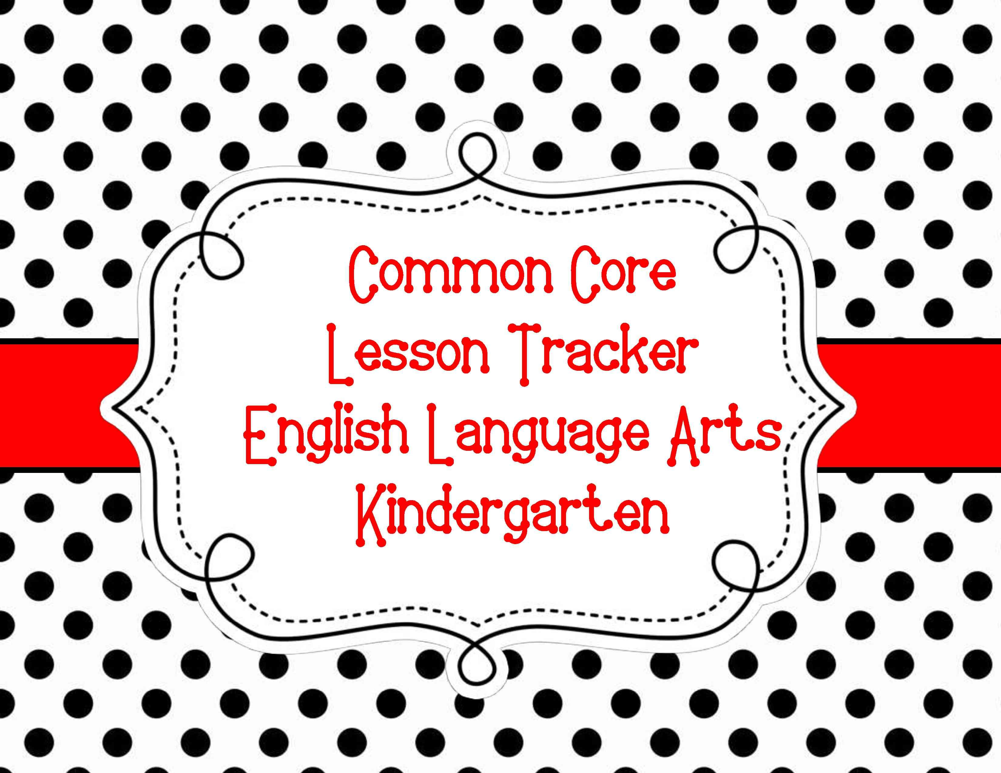 Common Core Lesson Tracker For All Elementary