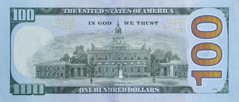 Independence Hall On 100 Dollars Banknote Back Side Closeup Macro Fragment Unit Sponsored Ad Paid Dollars Banknote Dollar Banknote Money Bill Dollar