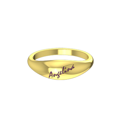 Classic Name Ring Wedding Ring With Name Engagement Rings