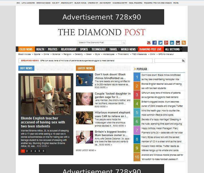 Diamond Post Wordpress Theme News Health Wordpress Theme Free Wordpress Themes