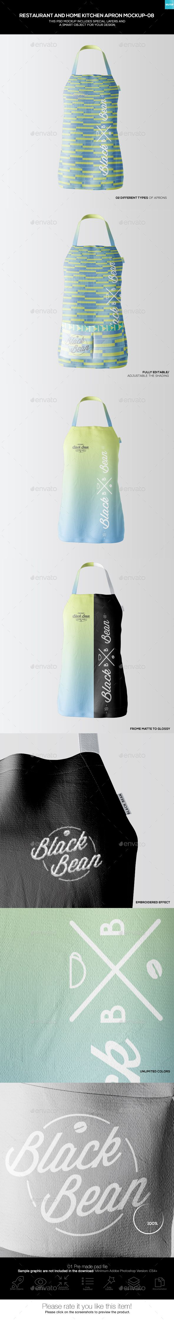 #Restaurant and Home Kietchen Apron #Mockup-08) - Miscellaneous Apparel Download here: https://graphicriver.net/item/restaurant-and-home-kietchen-apron-mockup08/19500951?ref=alena994