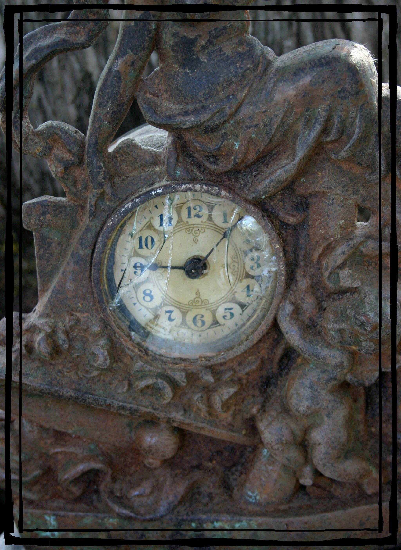 Rusty Old Broken Cast Iron Clock Land Of Nod Studios