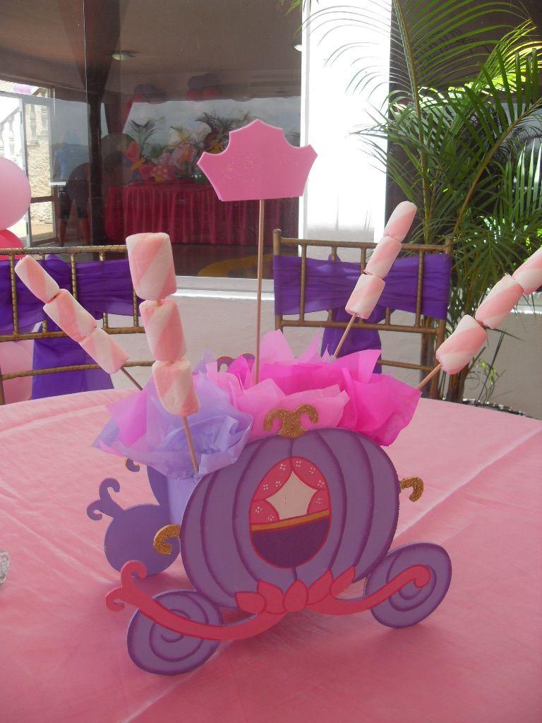 Tortas centro mesa para fiesta infantil las princesas - Mesas infantiles disney ...