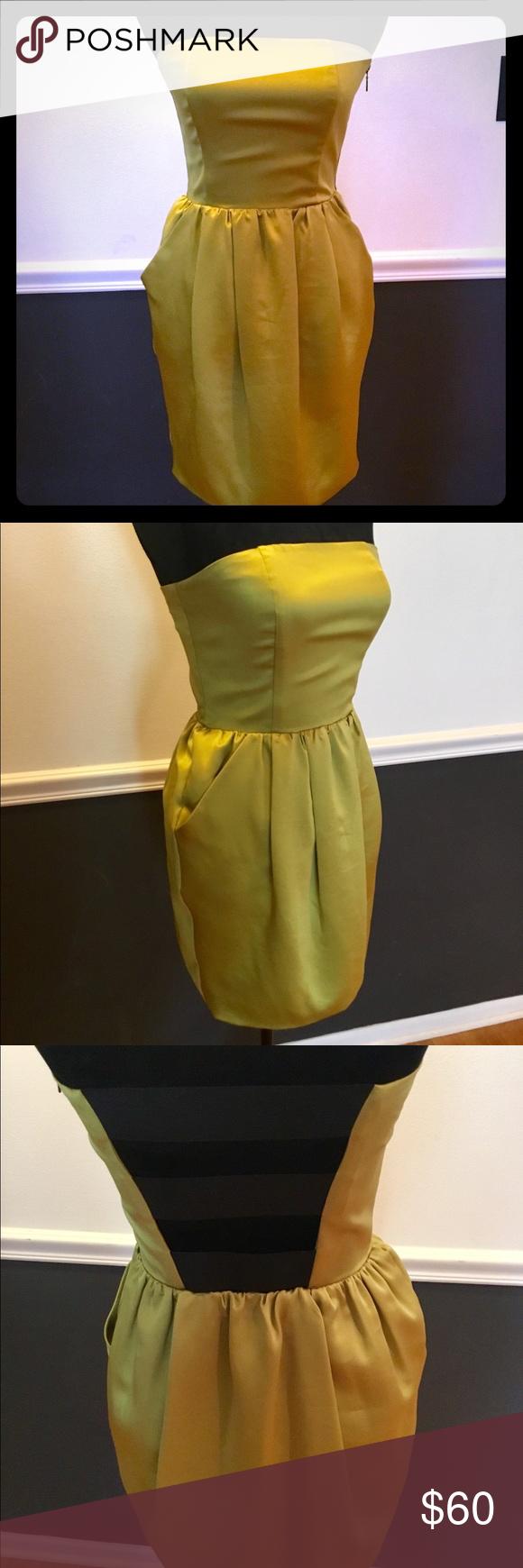 Nwt Rachel Roy Lime Green Black Strapless Dress Black Strapless Dress Strapless Dress Rachel Roy [ 1740 x 580 Pixel ]