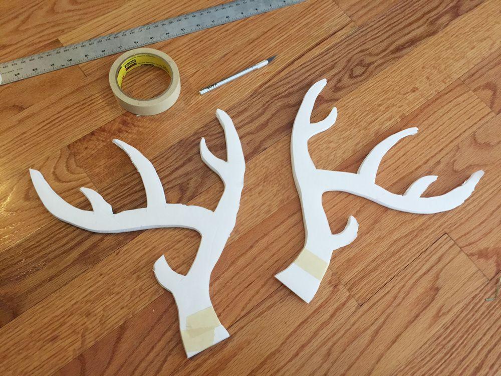 Making Foam Board Deer Antlers Manning Makes Stuff Diy Antlers Antlers Deer Antlers
