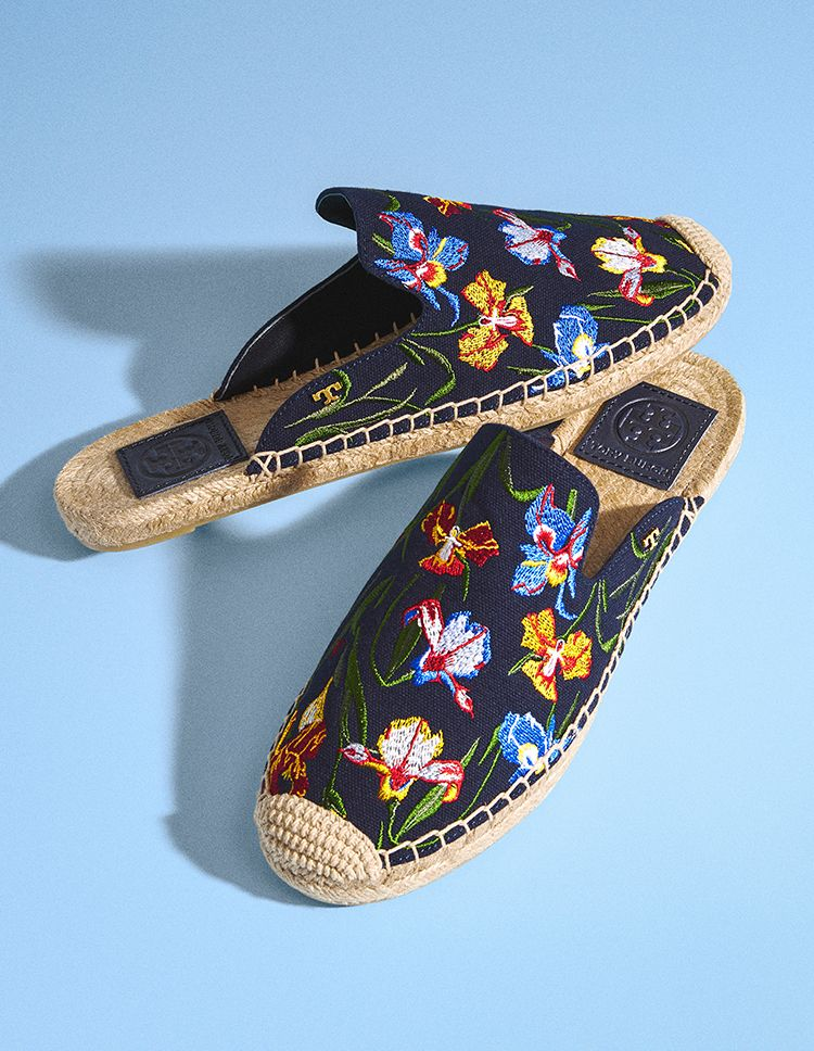 clearance affordable cheap sale fake Tory Burch Max embroidered espadrille slides visit new online comfortable sale online Old5y9